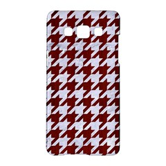 Houndstooth1 White Marble & Red Wood Samsung Galaxy A5 Hardshell Case  by trendistuff