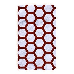 Hexagon2 White Marble & Red Wood (r) Memory Card Reader