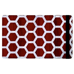 Hexagon2 White Marble & Red Wood Apple Ipad Pro 9 7   Flip Case by trendistuff