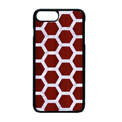 Hexagon2 White Marble & Red Wood Apple Iphone 7 Plus Seamless Case (black) by trendistuff