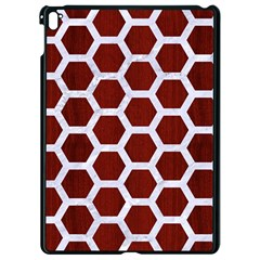 Hexagon2 White Marble & Red Wood Apple Ipad Pro 9 7   Black Seamless Case by trendistuff