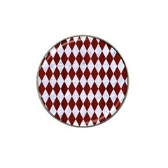Diamond1 White Marble & Red Wood Hat Clip Ball Marker (10 Pack) by trendistuff