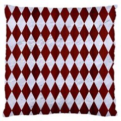 Diamond1 White Marble & Red Wood Standard Flano Cushion Case (one Side) by trendistuff