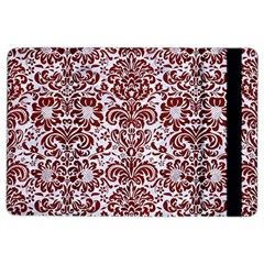 Damask2 White Marble & Red Wood (r) Ipad Air 2 Flip by trendistuff