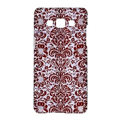 Damask2 White Marble & Red Wood (r) Samsung Galaxy A5 Hardshell Case  by trendistuff