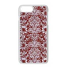 Damask2 White Marble & Red Wood Apple Iphone 8 Plus Seamless Case (white) by trendistuff