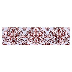 Damask1 White Marble & Red Wood (r) Satin Scarf (oblong) by trendistuff