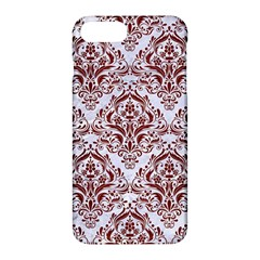 Damask1 White Marble & Red Wood (r) Apple Iphone 7 Plus Hardshell Case by trendistuff