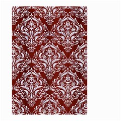 Damask1 White Marble & Red Wood Small Garden Flag (two Sides) by trendistuff