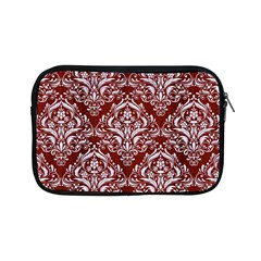 Damask1 White Marble & Red Wood Apple Ipad Mini Zipper Cases by trendistuff