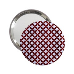 Circles3 White Marble & Red Wood (r) 2 25  Handbag Mirrors by trendistuff