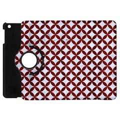 Circles3 White Marble & Red Wood (r) Apple Ipad Mini Flip 360 Case by trendistuff