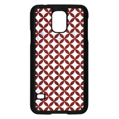 Circles3 White Marble & Red Wood (r) Samsung Galaxy S5 Case (black) by trendistuff
