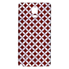 Circles3 White Marble & Red Wood Galaxy Note 4 Back Case by trendistuff