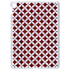 Circles3 White Marble & Red Wood Apple Ipad Pro 9 7   White Seamless Case by trendistuff