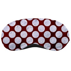 Circles2 White Marble & Red Wood Sleeping Masks by trendistuff