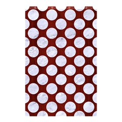 Circles2 White Marble & Red Wood Shower Curtain 48  X 72  (small)  by trendistuff