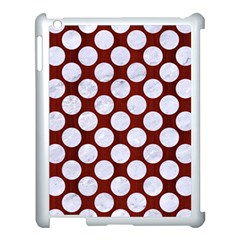 Circles2 White Marble & Red Wood Apple Ipad 3/4 Case (white)