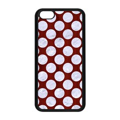 Circles2 White Marble & Red Wood Apple Iphone 5c Seamless Case (black) by trendistuff