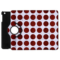 Circles1 White Marble & Red Wood (r) Apple Ipad Mini Flip 360 Case by trendistuff