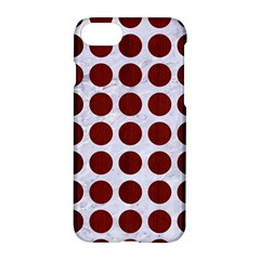 Circles1 White Marble & Red Wood (r) Apple Iphone 8 Hardshell Case by trendistuff
