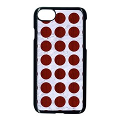 Circles1 White Marble & Red Wood (r) Apple Iphone 8 Seamless Case (black) by trendistuff