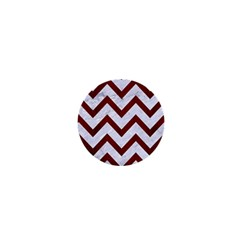 Chevron9 White Marble & Red Wood (r) 1  Mini Magnets by trendistuff