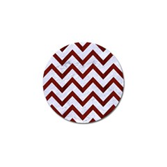 Chevron9 White Marble & Red Wood (r) Golf Ball Marker (4 Pack)