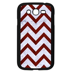 Chevron9 White Marble & Red Wood (r) Samsung Galaxy Grand Duos I9082 Case (black) by trendistuff
