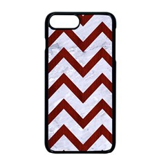 Chevron9 White Marble & Red Wood (r) Apple Iphone 8 Plus Seamless Case (black) by trendistuff