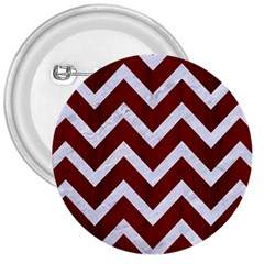 Chevron9 White Marble & Red Wood 3  Buttons by trendistuff