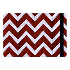 Chevron9 White Marble & Red Wood Apple Ipad Pro 10 5   Flip Case by trendistuff