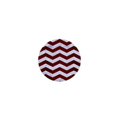 Chevron3 White Marble & Red Wood 1  Mini Buttons by trendistuff