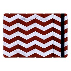 Chevron3 White Marble & Red Wood Apple Ipad Pro 10 5   Flip Case by trendistuff