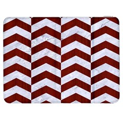 Chevron2 White Marble & Red Wood Samsung Galaxy Tab 7  P1000 Flip Case by trendistuff