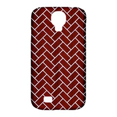 Brick2 White Marble & Red Wood Samsung Galaxy S4 Classic Hardshell Case (pc+silicone)