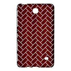 Brick2 White Marble & Red Wood Samsung Galaxy Tab 4 (7 ) Hardshell Case  by trendistuff