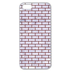 Brick1 White Marble & Red Wood (r) Apple Seamless Iphone 5 Case (clear) by trendistuff