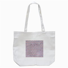 Brick1 White Marble & Red Wood (r) Tote Bag (white) by trendistuff