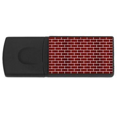 Brick1 White Marble & Red Wood Rectangular Usb Flash Drive by trendistuff