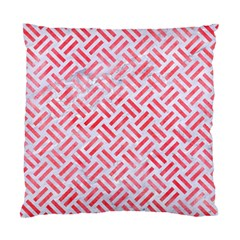 Woven2 White Marble & Red Watercolor (r) Standard Cushion Case (one Side)