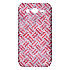 Woven2 White Marble & Red Watercolor (r) Samsung Galaxy Mega 5 8 I9152 Hardshell Case  by trendistuff