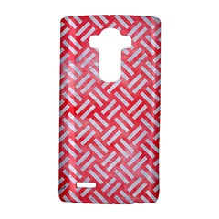 Woven2 White Marble & Red Watercolor Lg G4 Hardshell Case by trendistuff
