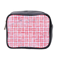 Woven1 White Marble & Red Watercolor (r) Mini Toiletries Bag 2 Side by trendistuff