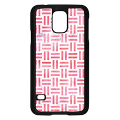 Woven1 White Marble & Red Watercolor (r) Samsung Galaxy S5 Case (black) by trendistuff