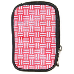 Woven1 White Marble & Red Watercolor Compact Camera Cases by trendistuff