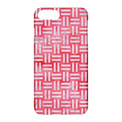 Woven1 White Marble & Red Watercolor Apple Iphone 8 Plus Hardshell Case by trendistuff