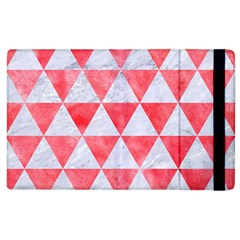 Triangle3 White Marble & Red Watercolor Apple Ipad 2 Flip Case by trendistuff