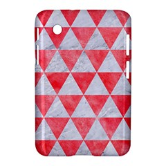 Triangle3 White Marble & Red Watercolor Samsung Galaxy Tab 2 (7 ) P3100 Hardshell Case  by trendistuff