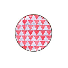 Triangle2 White Marble & Red Watercolor Hat Clip Ball Marker (10 Pack) by trendistuff